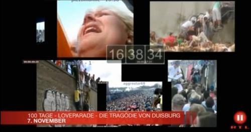 aus einem Trailer von RTL2: Multiperspektiven-Video zum Loveparade-Unglück von loveparade2010doku.wordpress.com